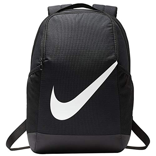 Nike Y Nk Brsla Bkpk - FA19 Sports Backpack - Black/Black/(Glossy White), MISC