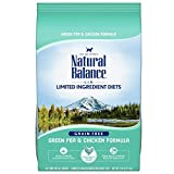 Natural Balance L.I.D. Limited Ingredient Diets Dry Cat Food, Green Pea & Chicken Formula, 5 Pounds, Grain Free