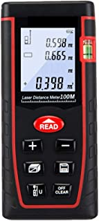Laser Distance Meter 100m, 30 sets of data storage, self-service calibration function, area/volume/pyrolysis/addition and ...