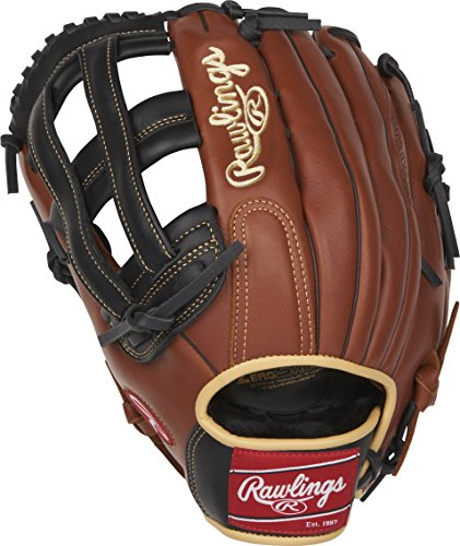 "Rawlings Sandlot Series Leather Pro H Web Baseball Glove, Left Handed Throw , 12-3/4"""