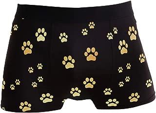 INTERESTPRINT Kids Dog Paw Prints and Bone-Black Comfortable Breathable Briefs 5T-2XL