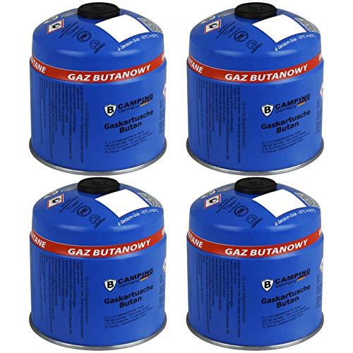 TW24 Gaskartusche mit Schraubventil 4X 500g Schraubkartusche Butan Gas Kartusche Camping Ventilkartusche Campinggaskartusche