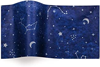 Boutique Printed Tissue Paper for Gift Wrapping with Starry Night Constellations, Decorative Tissue Paper - 20 Large Sheets, 20x30