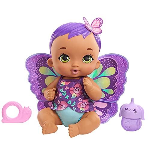 My Garden Baby GYP11 - Schmetterlings-Baby Puppe zum Füttern und Anziehen (30cm), mit wiederverwendbarer Windel, abnehmbarer Kleidung und Flügeln, ab 2 Jahren