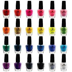 top 10 nail polish sets SHANY Cosmopolitan Manicure Set – 24 Color Set – Premium Quality  Quick Dry