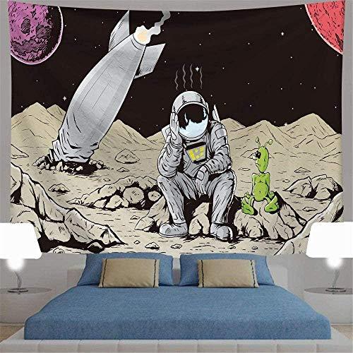DGSJH Tapiz para colgar en la pared Tapiz de luna y estrellas Tapiz para colgar en la pared Tapiz de galaxia azul estrellada Universo Tapiz de cielo nocturno para dormitorio Sala de estar 150x200cm