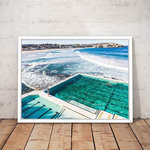 Puzzle 1000 piezas Pintura decorativa de natación en la playa de estilo nórdico ilustraciones de cuadros modernos puzzle 1000 piezas animales Rompecabezas de juguete de descom50x75cm(20x30inch)