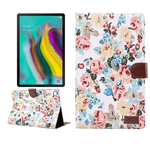 simple and practical For Samsung Galaxy Tab A7 T505 Flower Cloth Texture PC Horizontal Flip Leather Protective Case, with Holder & Card Slots & Wallet & Photo Frame & Sleep / Wake-up Function,To meet