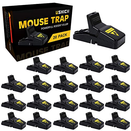 USKICH 20 Pack Mouse Trap Mice Trap That Work Human Power Mouse Killer Mouse Catcher Quick Effective Mouse Trap Mice Trap That Work Human Power Mouse Killer Mouse Catcher Quick Effective