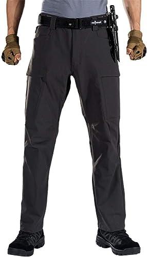 QZHE Pantalon imperméable Pantalons De Randonnée pour Hommes De Sports Tactiques Militaires Militaires Pantalons Multi-Poches De Camping