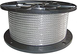 Cable, 1/8 in. dia, 500 ft, 7 x 7, Vinyl