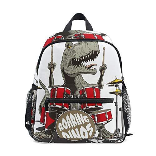 Schulranzen Vorschulrucksack Rock Dinos Schlagzeug Kindergarten Kindergarten Rucksack Leichter Bookbag für Mädchen Jungen Kleinkind Alter 3-8 Kinder