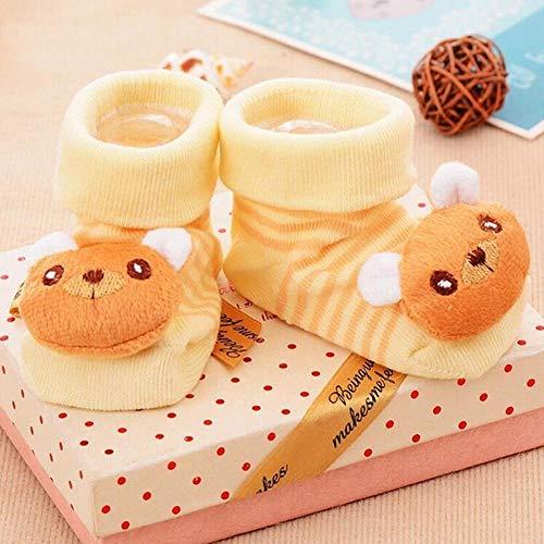 Golden.Y Calcetines para bebé Calcetines Rojos Antideslizantes Hello Kitty para niñas recién Nacidas 0-12 Meses