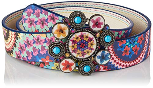 Desigual Belt_New Mandala Cinturón, multicolor, 95 cm para Mujer