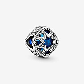 PANDORA - Glacial Beauty Charm in Sterling Silver with Swiss Blue Crystals and Clear Cubic Zirconia