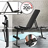 Physionics Weight Bench - Foldable & Adjustable (9 Level Backrest, 3 Level Seat), Leg Support for Abs Training, 240kg Max Load - Incline, Decline, Flat, Sit Up