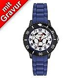 Sterngraf Armbanduhr von s.Oliver MIT Gravur (z.B. Initialen) Kids Jungen-Uhr SO-2589-PQ blau...