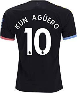 fif KUN Aguero 10 M. City Away 2019 2020 Jersey Color Black Size M