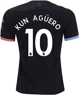 fif KUN Aguero 10 M. City Away 2019 2020 Jersey Color Black Size L