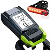 Fortis Bike Light with Wireless Speedometer Odometer and Horn, Super Bright 2400 Lumens LED Bicycle Light, USB Rechargeable Front and Rear Light, Waterproof, Easy to Mount for All Bikes