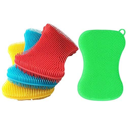 Vrttlkkfe 4 pezzi di spugna in gel di silice per lavastoviglie pulizia della casa spugna da cucina Gadget accessori per lavastoviglie