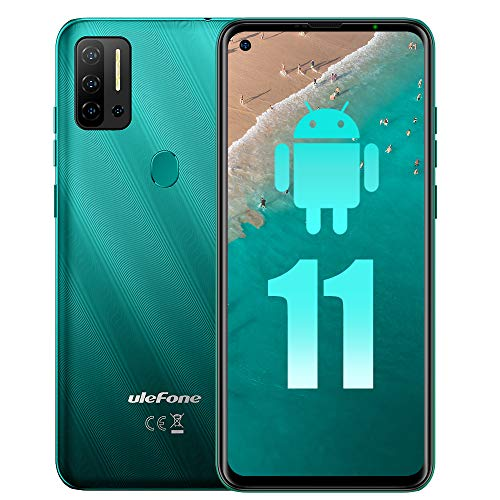 """Ulefone Note 11P Unlocked Cell Phone New Android 11 P60 Octa core 8GB+128GB Mobile Phone, 48MP Four Rear Camera + 8MP Front Camera, 6.55"""" HD+ Screen 4400mAh Battery Dual SIM 4G Unlocked Android Phone"""