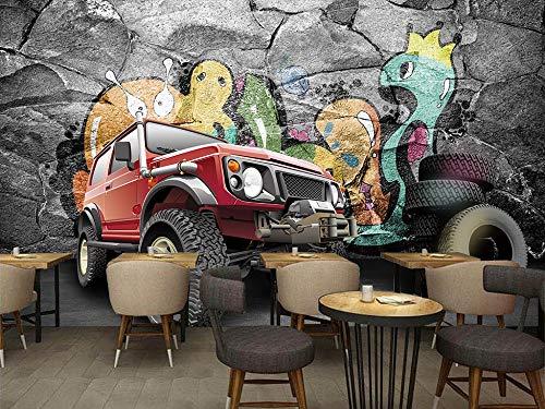 Gewohnheit jeder Größe Persönlichkeit Trend Buggy 3D Hintergrund Wandaufkleber Ausgangsdekor Tapete Wandbild