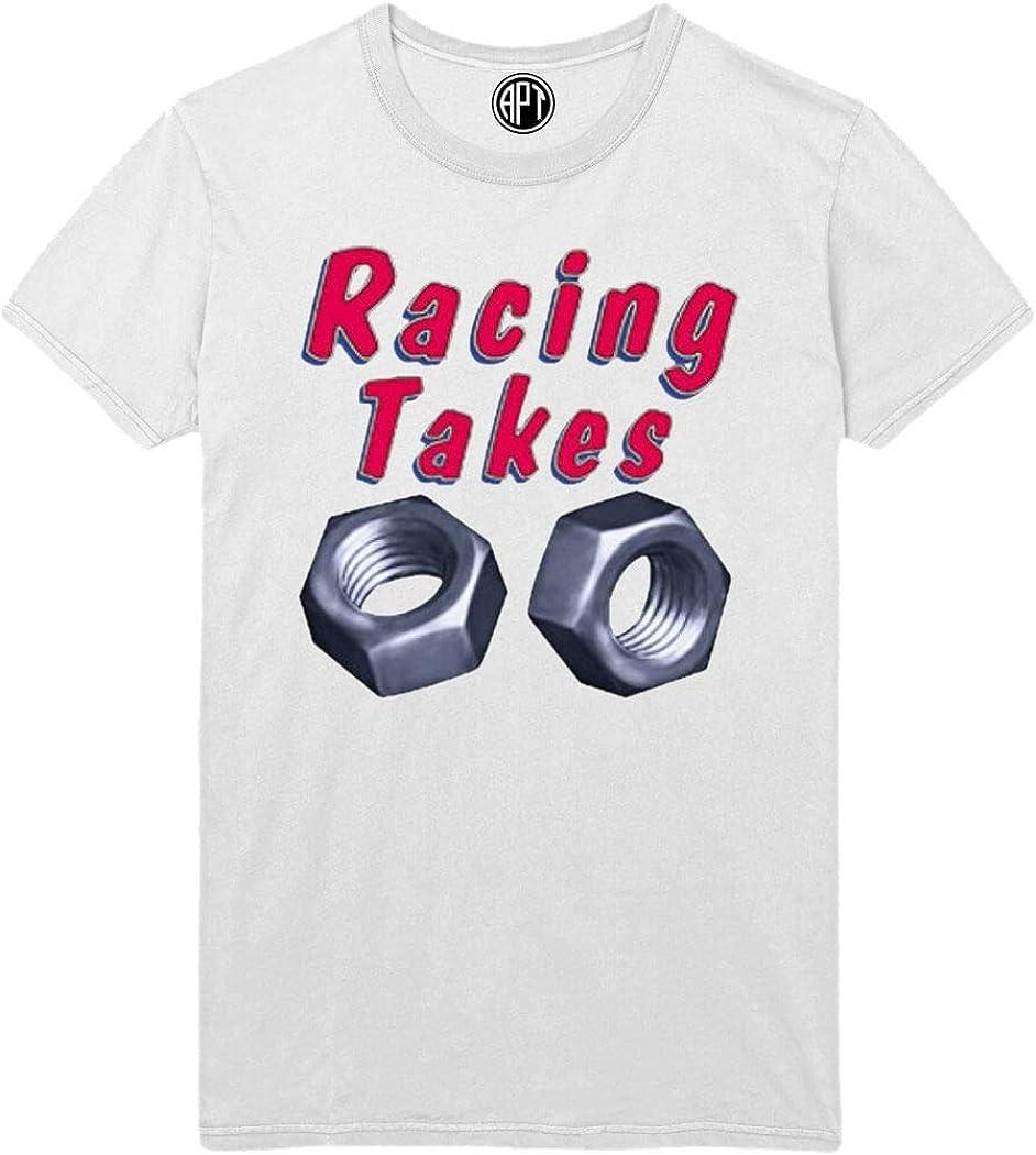 Racing Takes Nuts Printed T-Shirt
