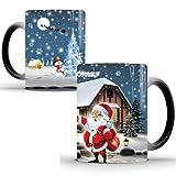 Taza de Navidad, taza de café de Papá Noel, taza de café Johiux, taza de té para oficina y hogar, taza de café...