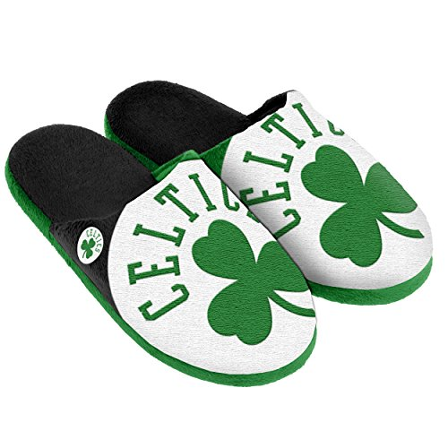 Boston Celtics Split Color Slide Slipper Small