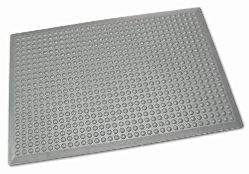 Ergonomische Arbeitsplatzmatte, grau, ca. 80 x 525 cm (Modulsystem), Gummimatte mit Noppen, Höhe 14 mm, aus SBR-Kautschuk, 7 Größen wählbar