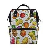 Diferentes frutas Coloridas Bolsas de pañales de gran capacidad Mamá Mochila Múltiples funciones Bolso de enfermería Bolso de mano para niños Cuidado del bebé Viajes Mujeres diarias