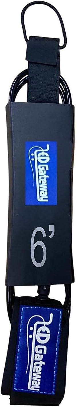 ED Gateway Surfboard Leash 6 Classic Max 79% OFF 8 7mm Surf Rope 10 Leg Feet