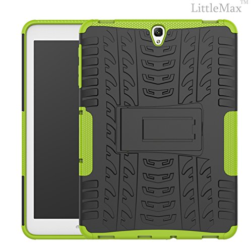 Galaxy Tab S3 9.7 Case-LittleMax(TM) 2 in 1 Kickstand Protective Case Shock Proof Soft Gel Tough PC Hybrid Cover for Samsung Galaxy Tab S3 SM-T820 SM-T825 9.7 Inch Tablet-03 Green
