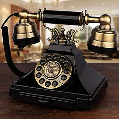 Teléfono Decoración Estatua Artista Teléfono Figurine Retro Antiguo Teléfono Teléfono Hogar fijo Vintage Vintage Antiguo Teléfono Mecánico Tono de aluminio Aleación de aluminio + ABS Soporte de plásti