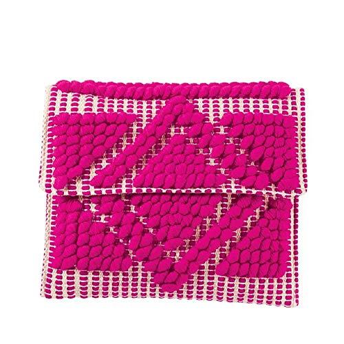 Mud Pie Women Handloom Clutch (Pink)