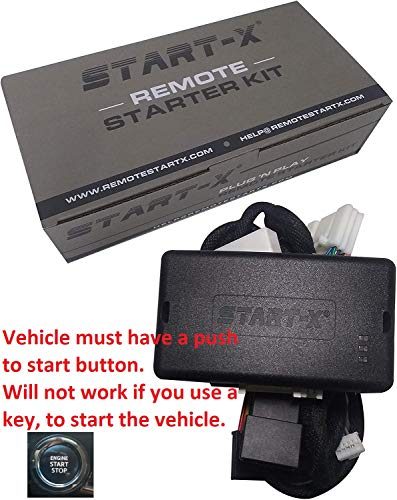 Start-X Plug N Play Remote Starter for 4Runner 2010-19, Sienna 2011-2020 || Push to Start Only || Lock 3X to Remote Start