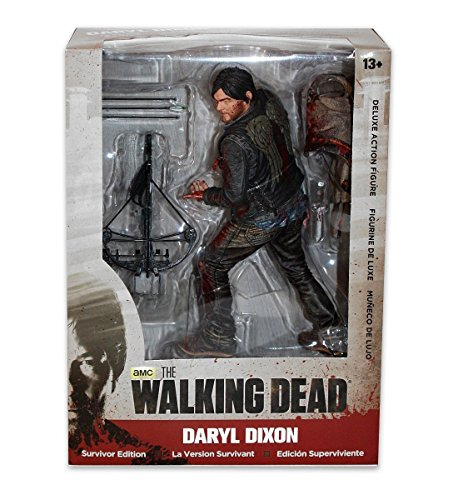 "The Walking Dead - Daryl Dixon 25cm Deluxe Figur ""Survivor Edition\"" bloody Version"