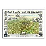 Kappa Map Group Denver 1908Historique d'impression encadrée Carte Murale Couleur du Cadre: Argenté