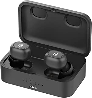SoundPEATS True Wireless Bluetooth Earbuds in-Ear Stereo Bluetooth Headphones Wireless Earphones (Bluetooth 5.0, 2600mAH Charging Case, 55 Hours Playtime, Built-in Mic)