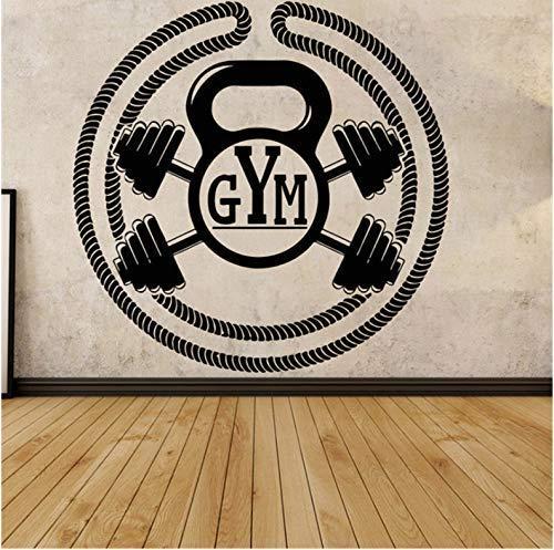 Att sälja barnrum väggklistermärken gym väggdekoration vinylklistermärken väggdekor muskelstyrka sport flyttbar 58 x 58 cm