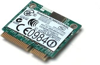 Genuine PW394 Dell/Boardcom PCI Express Mini 802.11 a/b/g/n WiFi Mini Card For Latitude XT2, XT2-XFR, 2100, E4200, E4300, E5400, E5410, E5500, E5510, E6400, E6400 ATG, E6400 XFR, E6500, Studio 15, 1535, 1537, 17, 1735, 1736, 1737, XPS 1340, Vostro 1500 Compatible Part Numbers: PW394, 0PW394, DW1510, Broadcom BCM94322HM8L CRD, WRLES, HMCRD, DW1510, 4322