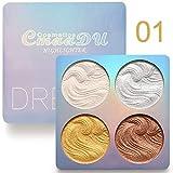 Highlighter Palette,Cmaadu Highlighter Makeup Palette, Glow Bronzer Highlighter Powder Kit (1)