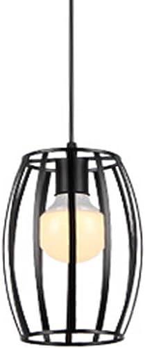SX-CHENG Lampe Simple Lustre Simple de Chef de Restaurant Lustre de Plafond de Fer forgé Nordique (14cm  24cm) (Couleur   A, Taille   Lumière Blanche)