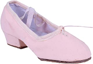 Fulision Female Canvas Ballet Shoes Non-Slip Leather Sole Latin Dance Shoes