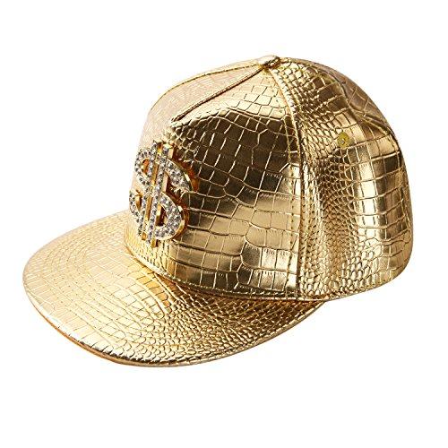 West See Unisex Baseball Caps Kappen Hut Snapback Partner-Cap Hip Hop Baseballmütze (Gold)