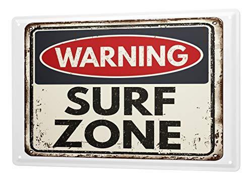 LEotiE SINCE 2004 Cartel Letrero de Chapa Deportes Surf Zone