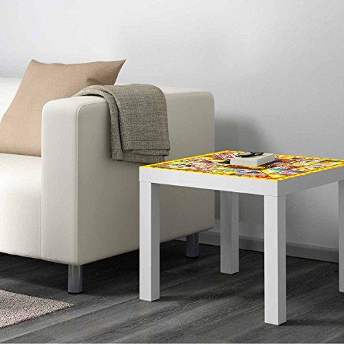 Vinilo para Mesa IKEA Lack Personalizada Juego de la Oca clásico | Medidas 0,55 m x 0,55 m | Vinilo Personalizado | Pegatina Decorativa de Diseño Elegante