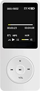 $59 » SHIXUE MP3 Bluetooth Player for Children, Multiple Functions, Support Bluetooth to Carry Around, Convenient and Fast,White