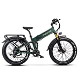 W Wallke X3 Pro Folding Electric Bike 26 inch Fat Tire eBikes for Adults 750W 48V Lithium Battery Ebike 8 Speed Gears Pedal Assisted Electric Bicycle